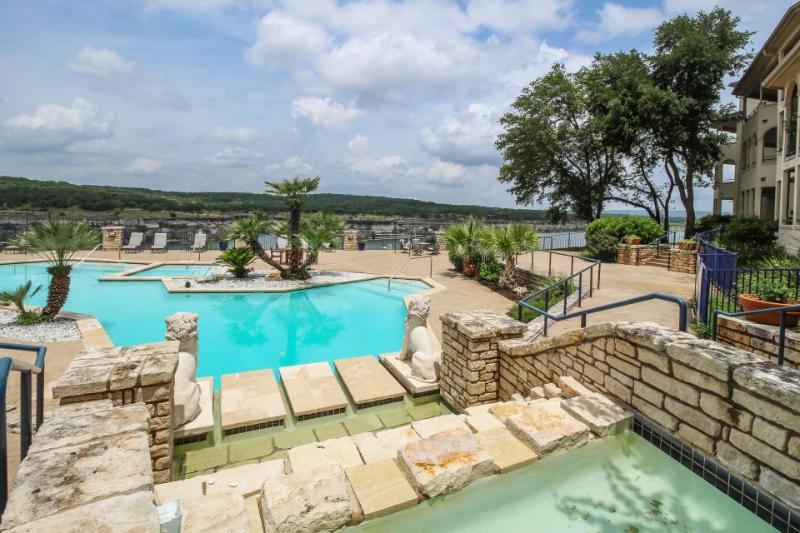 Lakefront, newly renovated, dog-friendly. Shared pools and hot tub! - Image 1 - Lago Vista - rentals