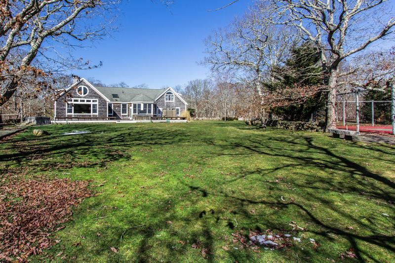 Winter photo, House, Yard, Tennis Court - NOBLM - Distinctive Luxury Summer Retreat, Private Tennis Courts, Private - West Tisbury - rentals