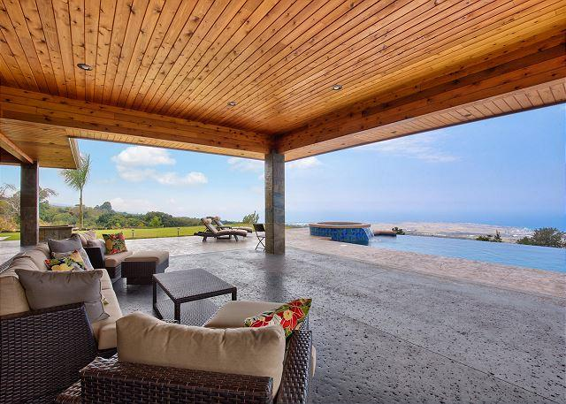Covered Lanai, Infinity Pool and Coastline Ocean Views - Gated, Private, Infinity Pool with Stunning Unobstructed Ocean Views! - Kailua-Kona - rentals