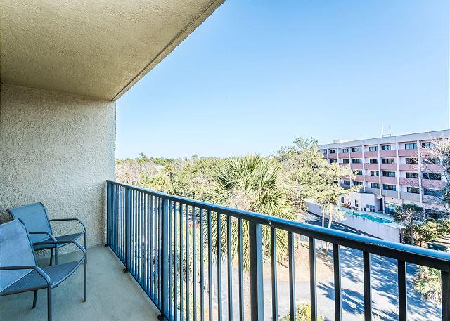 Balcony Views - - Xanadu 20-A, 3 Bedroom, Large Pool, Tennis, Walk to Beach, Sleeps 8 - Hilton Head - rentals
