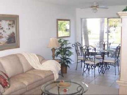 Living room and dinette overlooking the water. - LONGBOAT KEY CANAL FRONT, SUMMER SPECIAL - Longboat Key - rentals