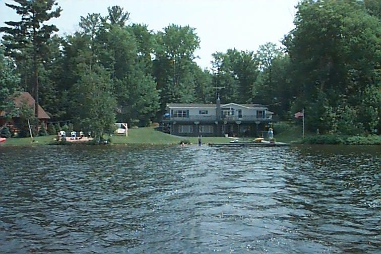 Angel Island View inn as seen from the water. - Angel Island View Inn - Lower Level Suite - Munising - rentals