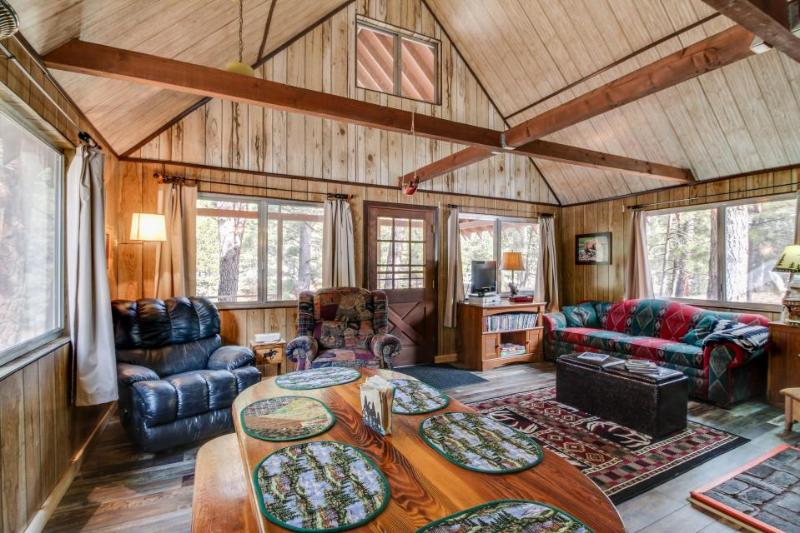 Cozy riverfront cabin with a loft, a wood stove, and a pretty back porch! - Image 1 - Garden Valley - rentals