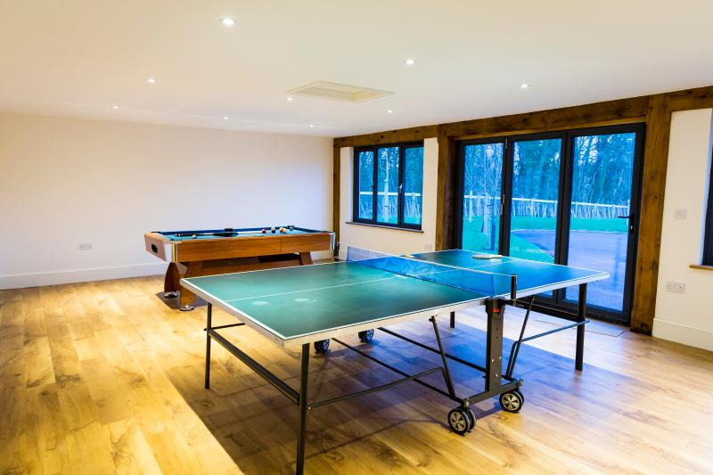 Games room - Brand new, Luxury, self-catering Holiday house - Hereford - rentals