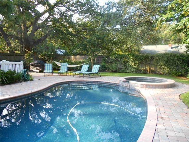 Backyard Private Pool and Patio - Pool Home- 3 BR- Located Close to Beach & Village - Saint Simons Island - rentals