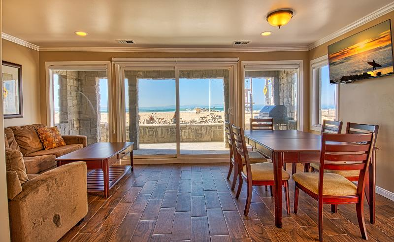 Inside photo showing view to the beach - 3515 A Seashore - Lower 3 Bedroom 2 Bath - Newport Beach - rentals