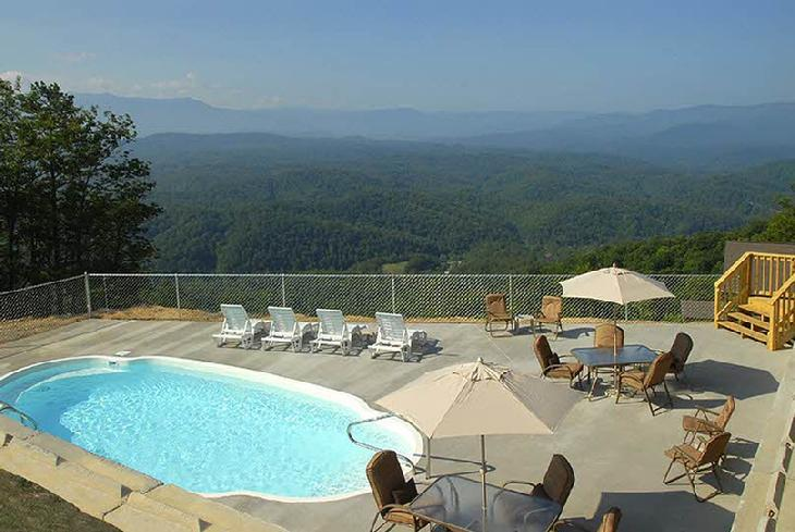 There is no better view than this cabin has - 8 B/R, Private heated pool, Top of the Mtn. - Sevierville - rentals