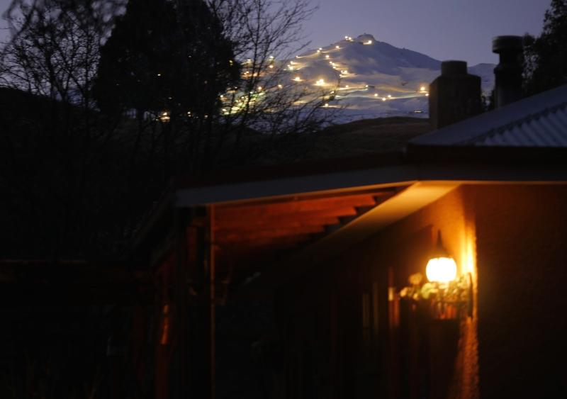 """View of Coronet Peak night skiing - a Queenstown """"must do"""" - Jewel on Speargrass - a charming getaway - Queenstown - rentals"""