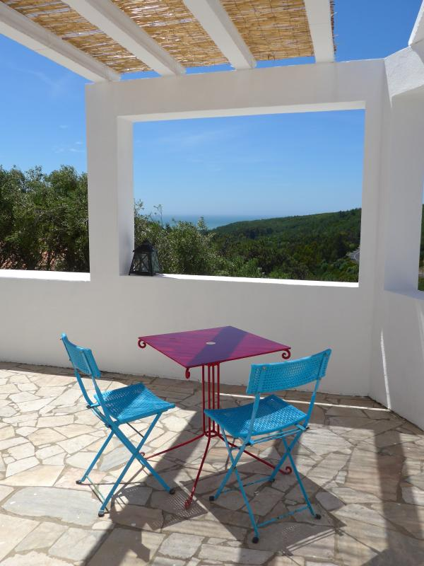 Terrace with views all the way to Guincho Beach - Guincho Cottage - Cascais - rentals
