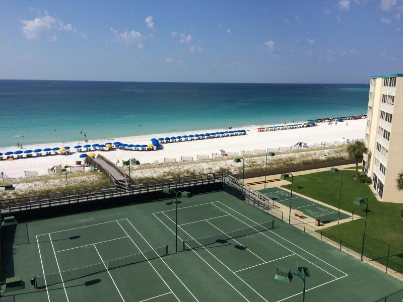 The actual view from our balcony - spectacular. - Gulf Front - Holiday Surf & Racquet Club - Top Floor-Penthouse View, Sleeps 6 ! - Destin - rentals