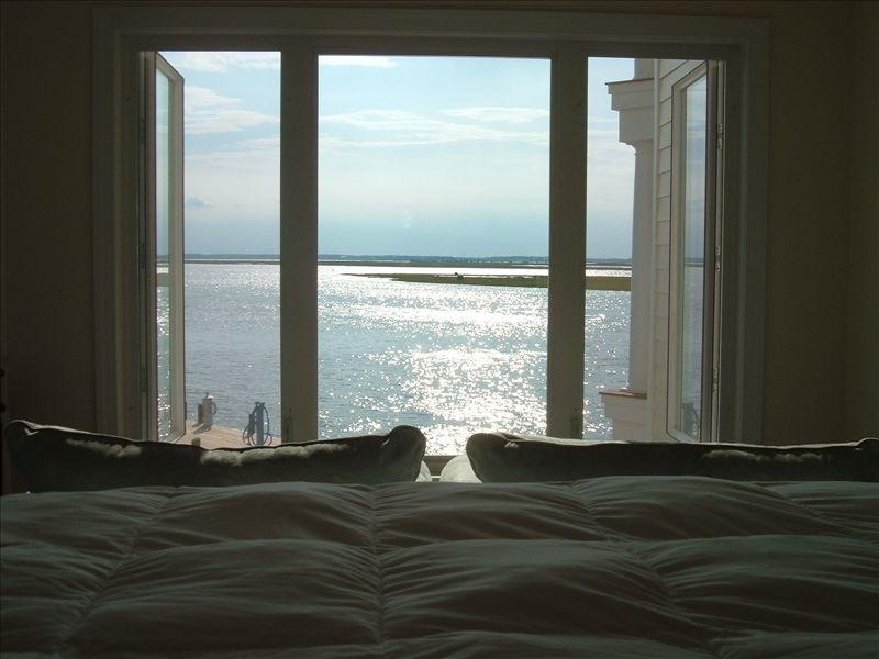 View From Master Bdrm. Bed - Waterfront, Sunset Bay Villas  Captain's Quarter's - Chincoteague Island - rentals