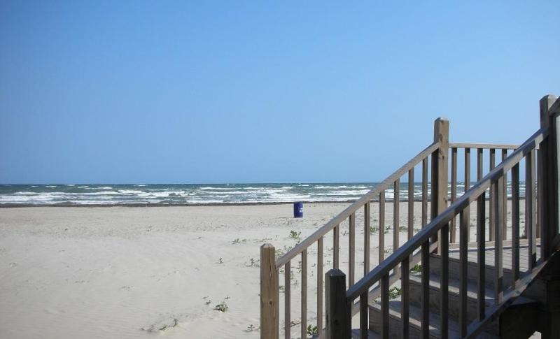 View from the 2 picnic tables & enclosed shower - Great Price Large Beachfront Home!! - Galveston - rentals