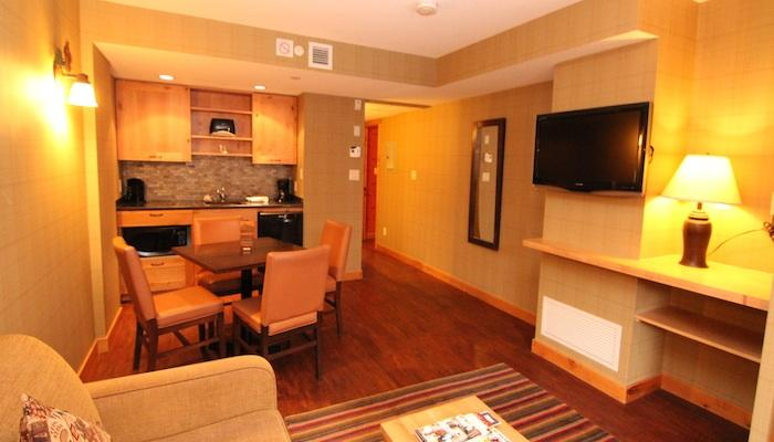 Unwind in this comfortable living area after a fun-filled day - Banff Fox Hotel & Suites Superior 1 Bedroom Suite - Banff - rentals