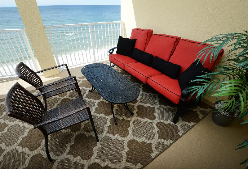 Large oversize balcony on the 10th floor with the best Views of the Beach and Gulf of Mexico. - Gulf Front, 3 Bedrooms, 3 Full size baths 10 Floor - Panama City Beach - rentals
