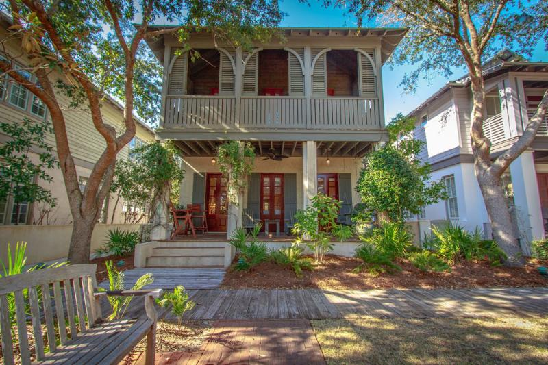 The architecture is classic Caribbean. The layout of the homes brings people together around a central green space. - Charming, family-friendly cottage with green play space in heart of Rosemary Beach - Cotton-Carrigan Cottage - Rosemary Beach - rentals