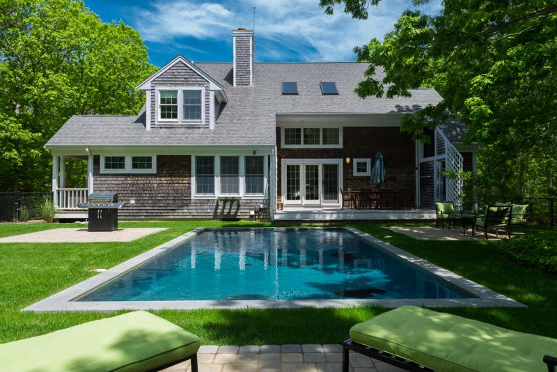 Pool, Yard, Patio, Deck and Dining - KASEE - Sea Haven, Edgartown Village, Heated Pool, Auto Ferry Tickets 7/8 and - Edgartown - rentals