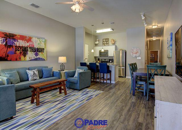 Open and spacious kitchen, dining and living area - All-New 2/2 townhouse that's just steps off the Beach! - Corpus Christi - rentals