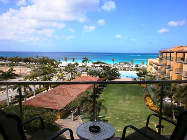 Spectacular ocean view from your balcony off your living room! - Top View One-bedroom Condo - P514 - Eagle Beach - rentals