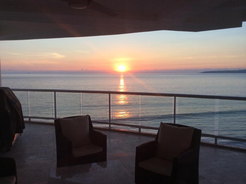 A different sunset everyday! - Gorgeous Beachfront Condo - Nuevo Vallarta - rentals