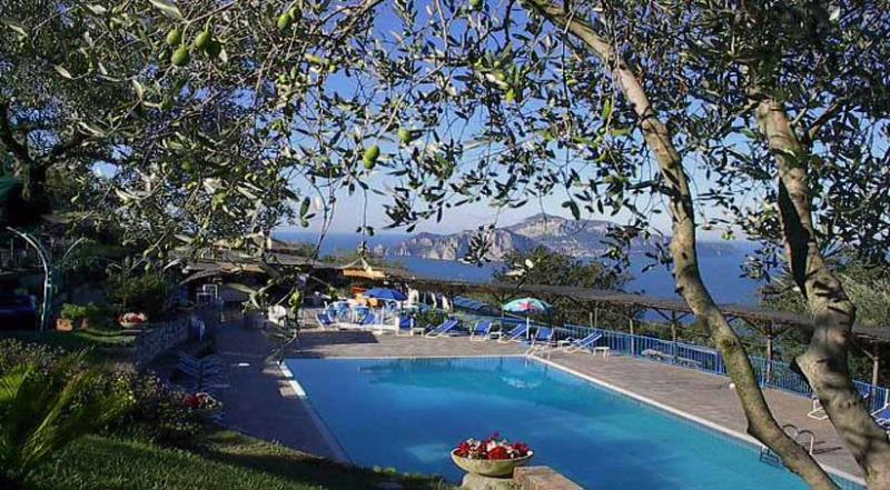 01 Gisella shared pool area - GISELLA - Termini - Massa Lubrense - Sorrento area - Massa Lubrense - rentals