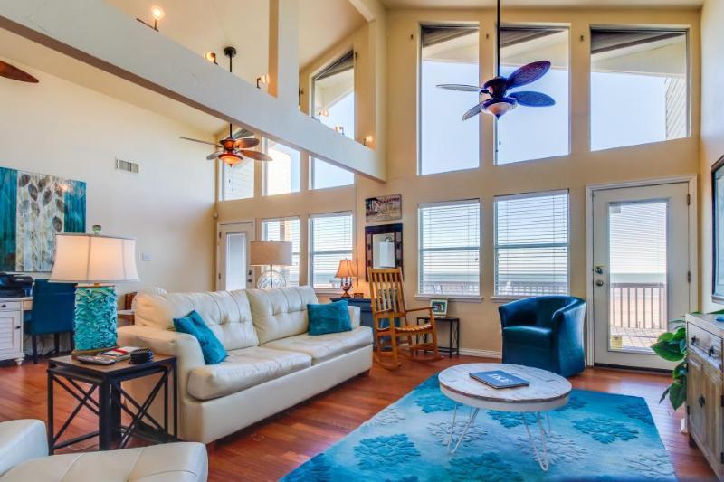 Oceanfront, dog-friendly luxury with unparalleled Gulf Coast views - Image 1 - Galveston - rentals