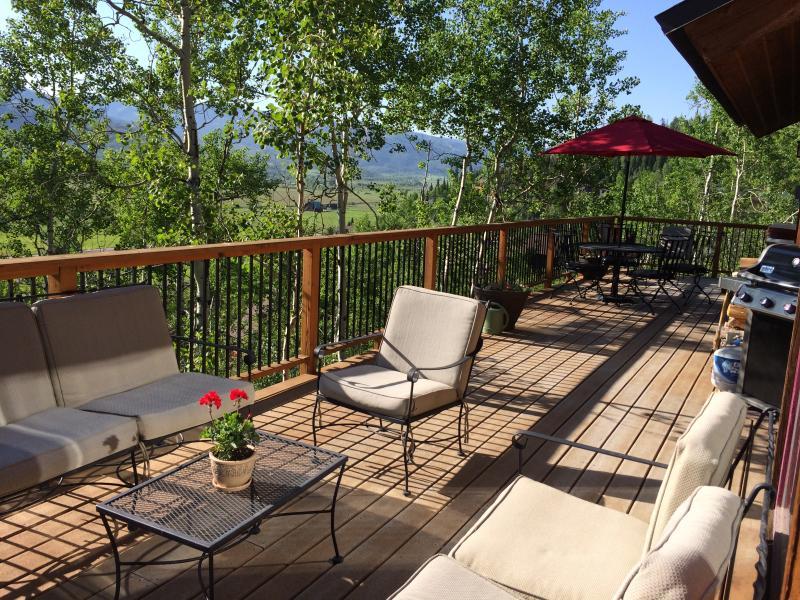 Snowshoe Haus deck in Summer - Top Locati, Hot Tub- Pet Friendly,Summer Sale!!! - Steamboat Springs - rentals