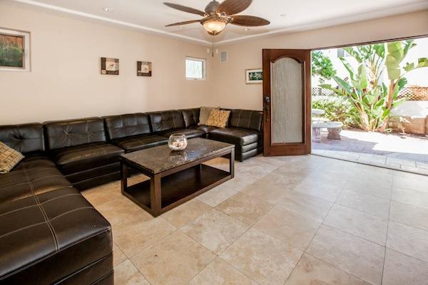 Living Room with private ground floor patio - DOVER745 - San Diego - rentals