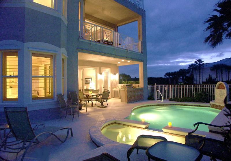 The Cinnamon Beach House Pool Oasis, a Retreat Day or Night - Amazing Waterfront Beach House: Views, Private Heated Pool, Elevator and More, More, More - Palm Coast - rentals
