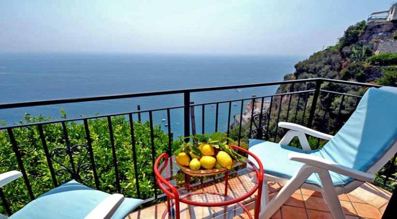 01 Il Postino balcony with sea view - IL POSTINO Castiglione di Ravello - Amalfi Coast - Ravello - rentals