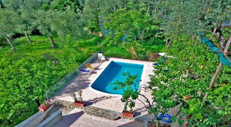 01 Il Sorriso shared pool area - IL SORRISO Massa Lubrense - Sorrento area - Massa Lubrense - rentals