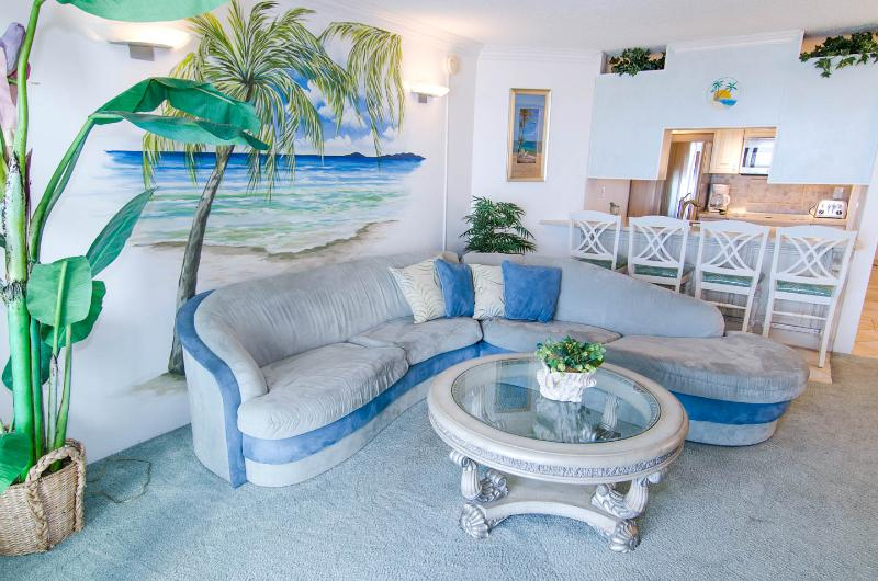 Living area - Beautiful ocean front condo Unit 1C - Ocean City - rentals