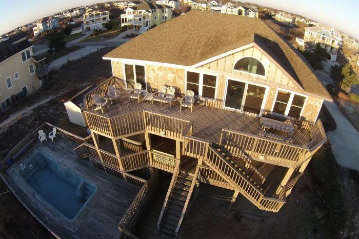 Oceanfront! Huge House, pool, hot tub, pets, WH32 - Image 1 - Corolla - rentals