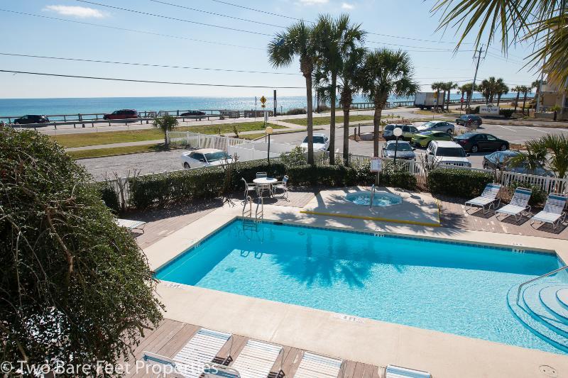 Balcony Overlooks Pool/HotTub - 1 Bedroom Gulf View Condo - Stunning VIEW! - Miramar Beach - rentals