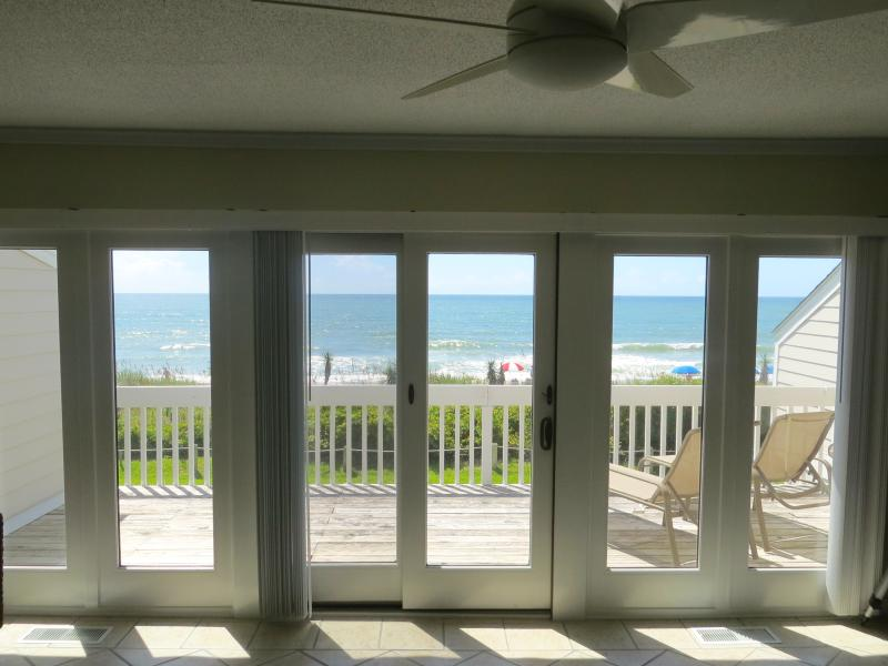 The million-dollar view from the living room! - 3BR Oceanfront Townhouse with AMAZING VIEW & Pool! - Pine Knoll Shores - rentals