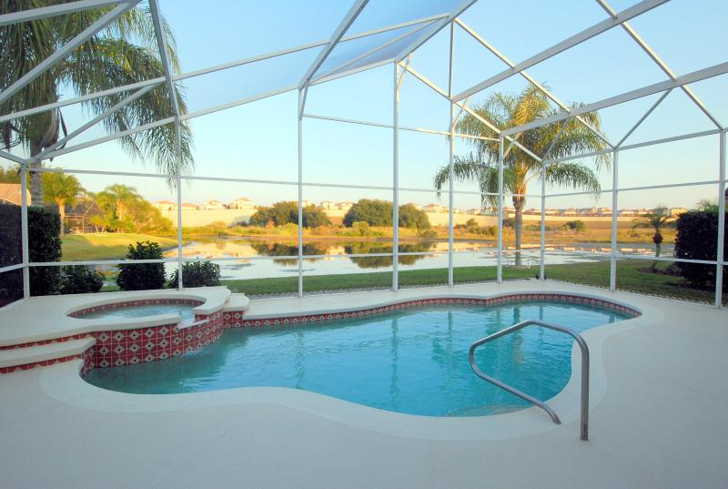 Pool showing large extended pool deck - Stunning 6 Bed 4 Bath (3 Masters) LAKESIDE House . - Kissimmee - rentals