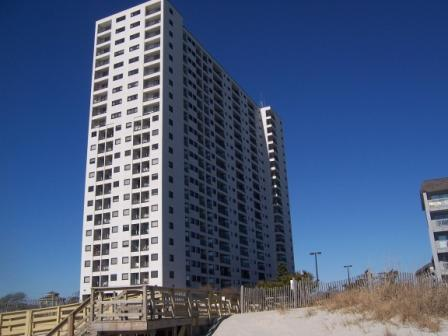 Our Bldg from the beach - Awesome Ocean Views  - Spectacular Sunrises - Myrtle Beach - rentals