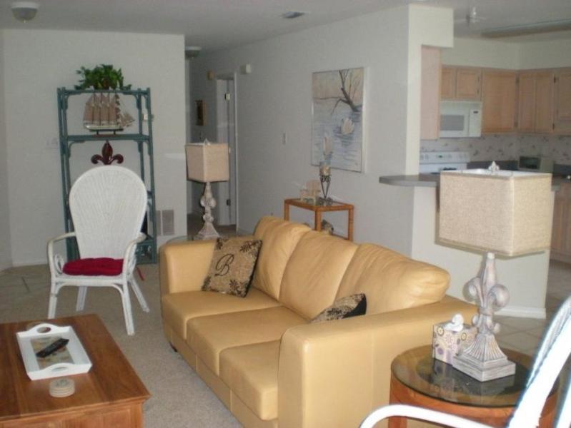 "Livingroom-Queen Sleeper Sofa - ""Geaux Boating"" 2B/2B Destin Harbor Boat Slip - Destin - rentals"