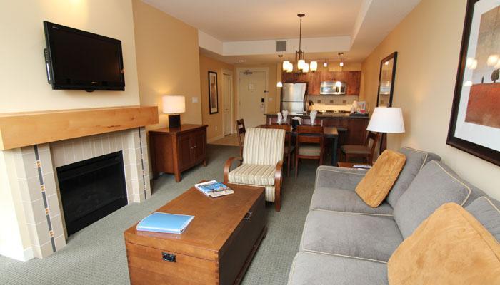 Relax in the spacious living area - 2 Bedroom Shiraz Condo: Lake View | Walnut Beach Resort, Osoyoos - Osoyoos - rentals