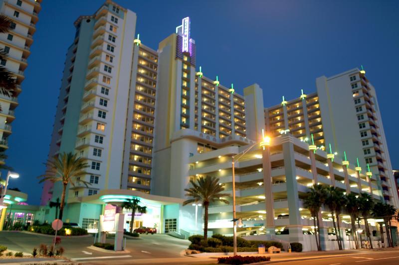 Your 2-bedroom, 2-bathroom vacation condo is located only a short walk-away from the beach - Sand, Sun, and Fun – Wyndham Ocean Walk 2-Bedroom Condo - Daytona Beach - rentals