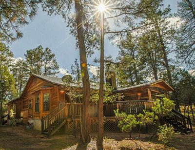 View from backyard - Spacious Cabin with Guest Casita for Larger Groups - Payson - rentals