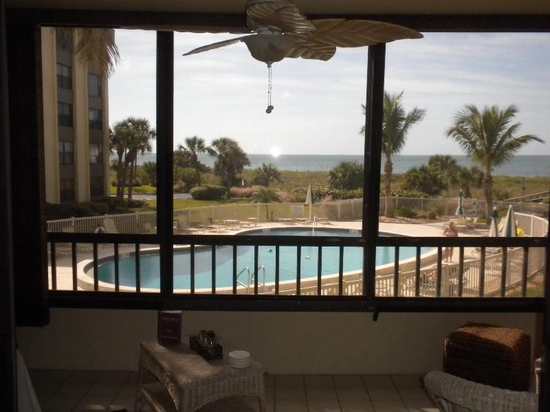Your lanai view - Right on the Beach with Extraordinary Views! - Siesta Key - rentals