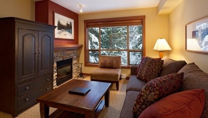 This light-filled condo features large windows and a fireplace.  - 1 Bedroom Condo | Horstman House, Whistler - Whistler - rentals