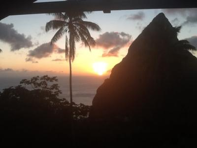 Romantic sunsets in a romantic and private setting - Hermitage Terrace: Piton and Ocean views - Belle Plaine - rentals