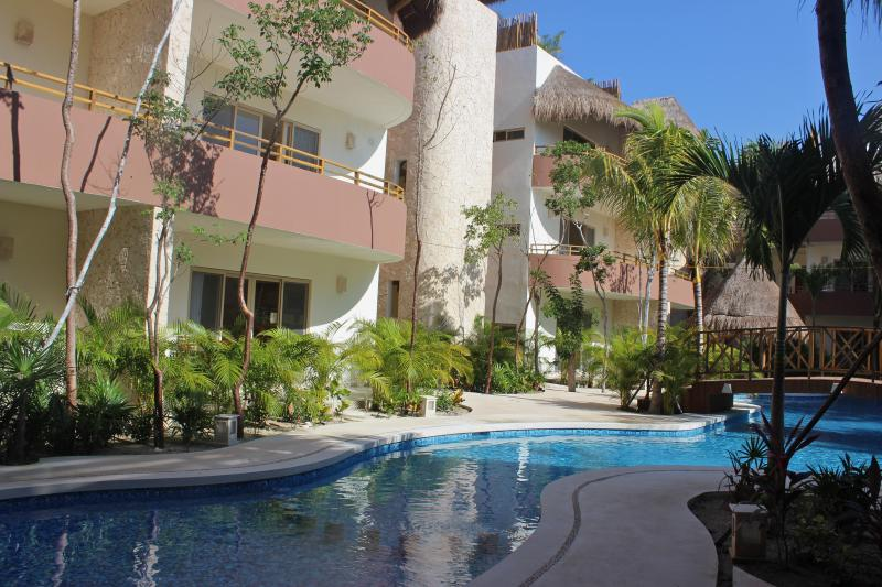 View of Condo Natura from poolside. - Condo Natura Tulum-closest condos to beach! - Tulum - rentals