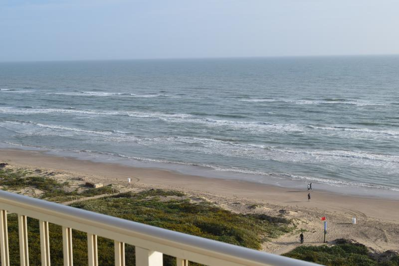 Direct view of the Gulf of Mexico out the 9th floor balcony - INCREDIBLE SPI BEACHFRONT CONDO 9TH FLOOR 2 BR - South Padre Island - rentals