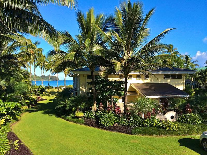 Dead Center on Hanalei Bay... - 7000 Sq. Ft. Beach Front Estate On Hanalei Bay - Hanalei - rentals