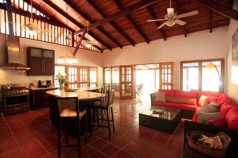 Kitchen / Living Room - Luxury Beachfront Estate, House Cleaning, and Wifi Included! - Santa Teresa - rentals