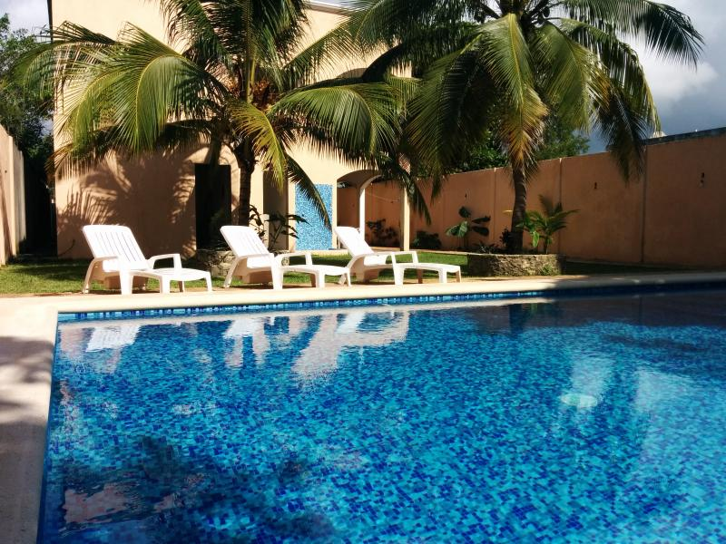 Beautiful Coral Island Suites view of Backyard Pool and Lounge Area - Coral Island Suites Cozumel - Cozumel - rentals