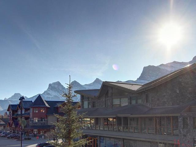 View of famous Three Sisters Mountains from one of two balconies - Downtown Vacation Retreat - Newly Remodeled! - Canmore - rentals