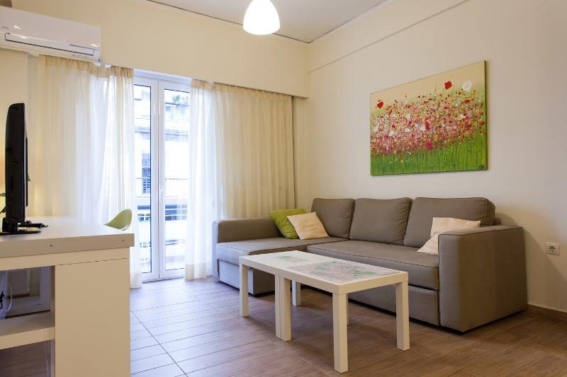 Living Room - Acropolis Apartment brand new - Athens - rentals